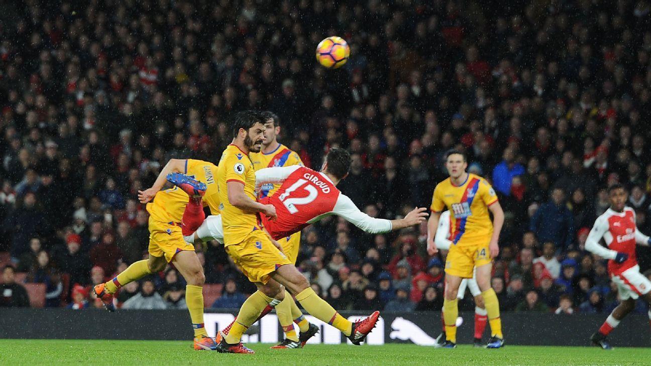 Olivier Giroud: Scorpion-kick goal inspired by Henrikh Mkhitaryan