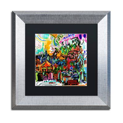 Trademark Art A Nice Place To Live Framed Graphic Print Matte Color Black Size 11 H X W 05 D