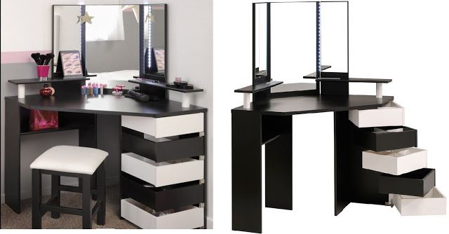 Small Corner Dressing Table Ideas For Bedroom Space Saving