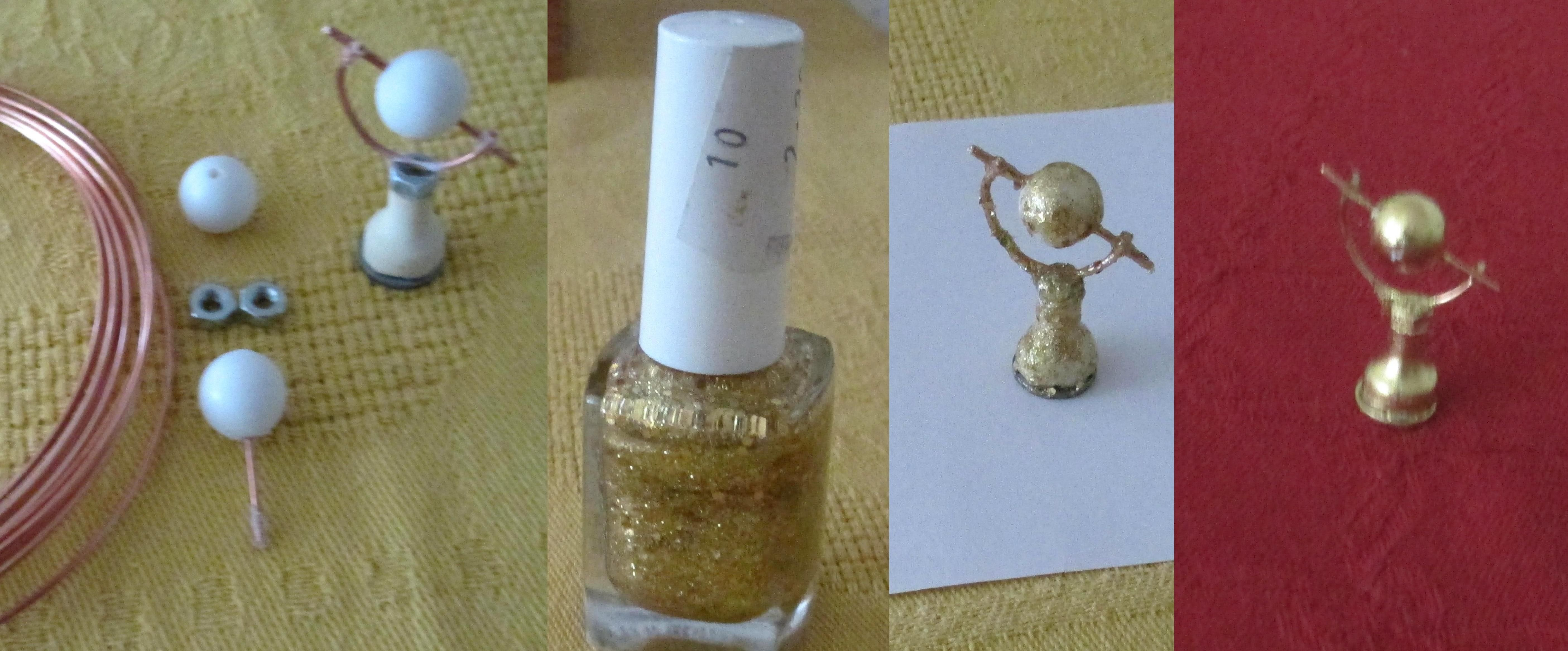 small globe on Poirot s work table - nail polish wasn t right - permanent marker is better