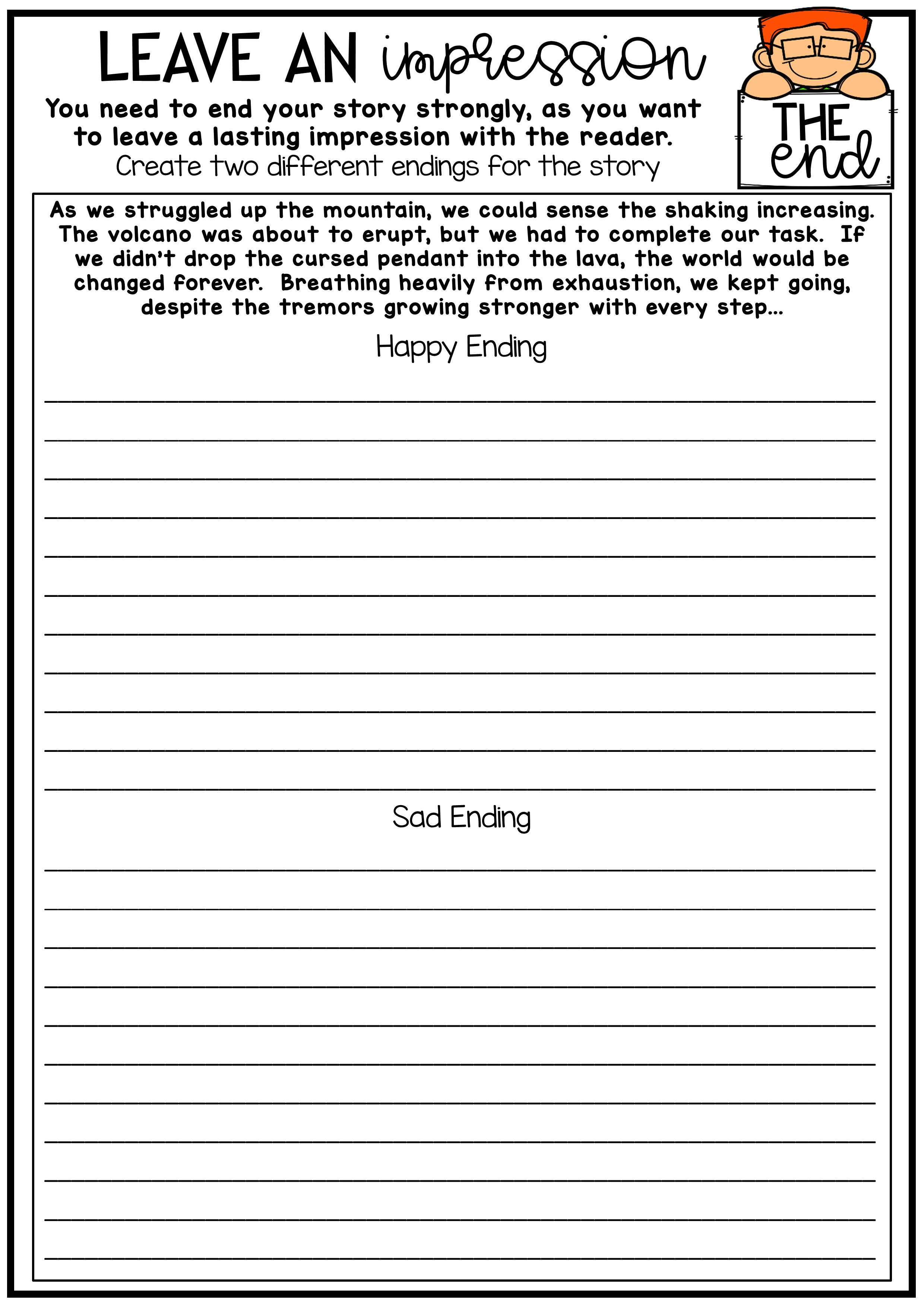 Narrative Writing No Prep Printables