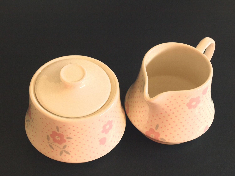 Crown Lynn Pink Laura Sugar Bowl Jug Retro Pink Floral Etsy Sugar Bowls And Creamers Retro Pink Pink Floral