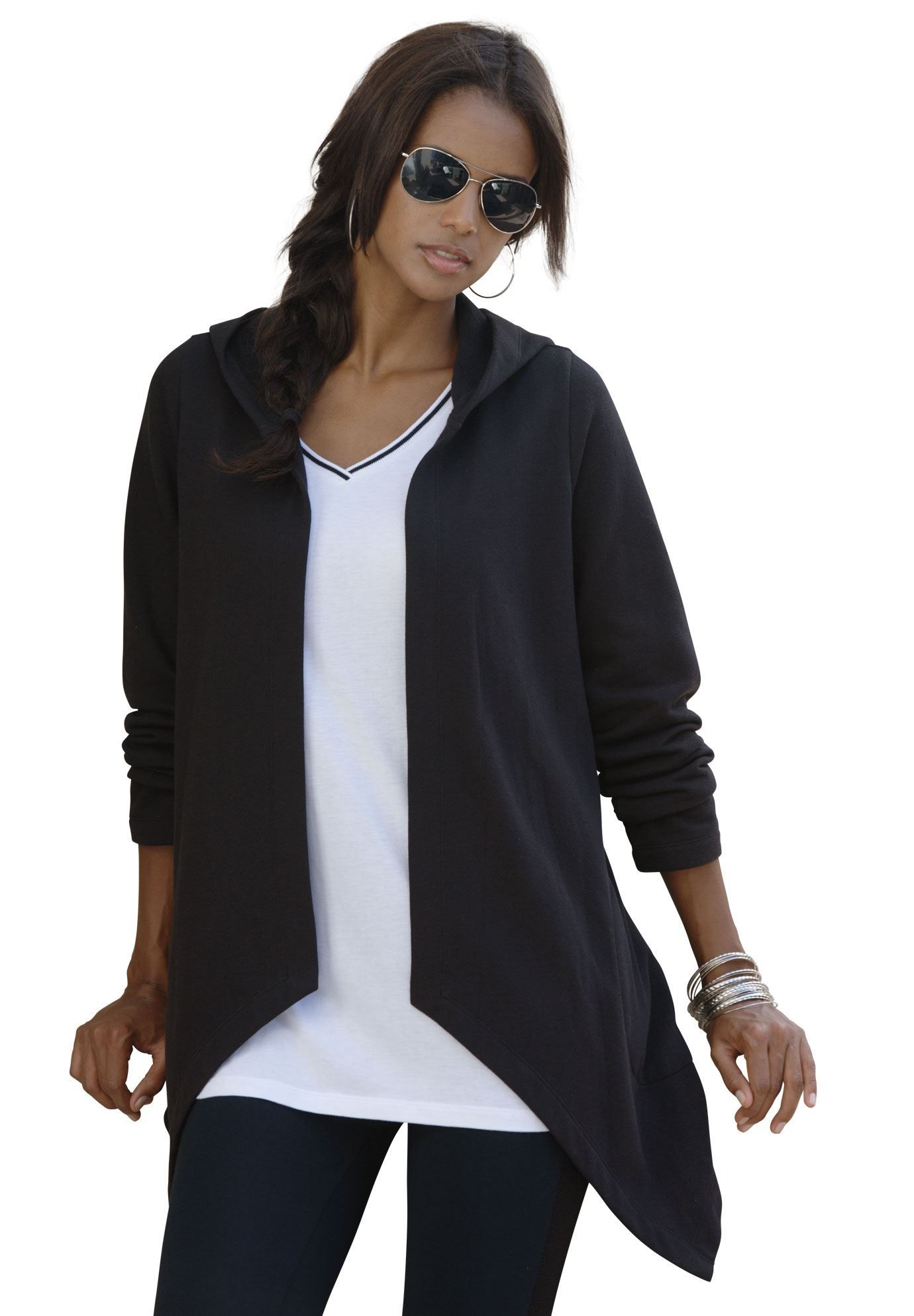 This plus size cardigan is the epitome of street chic. open front ...