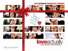 Love Actually, es una peli  en la que trabajan grandes actores como Huge Grant,Keira Knightley, Emma Thompson...    Un sin fin de actores conocidos que contaban sus pequñas historias de amor en una Navidad londinense. La historias se entremezclaban y el amor lo liaba todo.