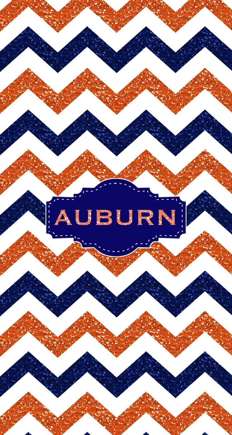 War Eagle Auburn Glitter Monogram wallpaper. Made with