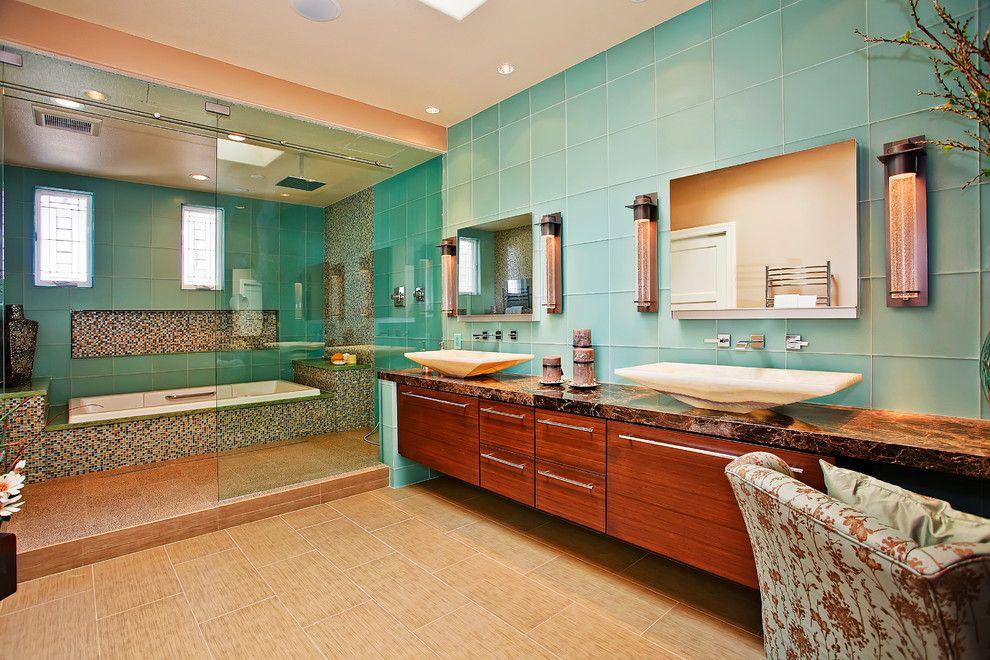 Bagni moderni con design in stile zen casa nuova