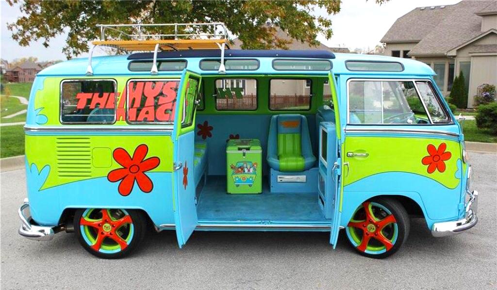 Combi vw les plus insolites du monde unique kombi campers combi camionnette et voitures cool - Scooby doo voiture ...
