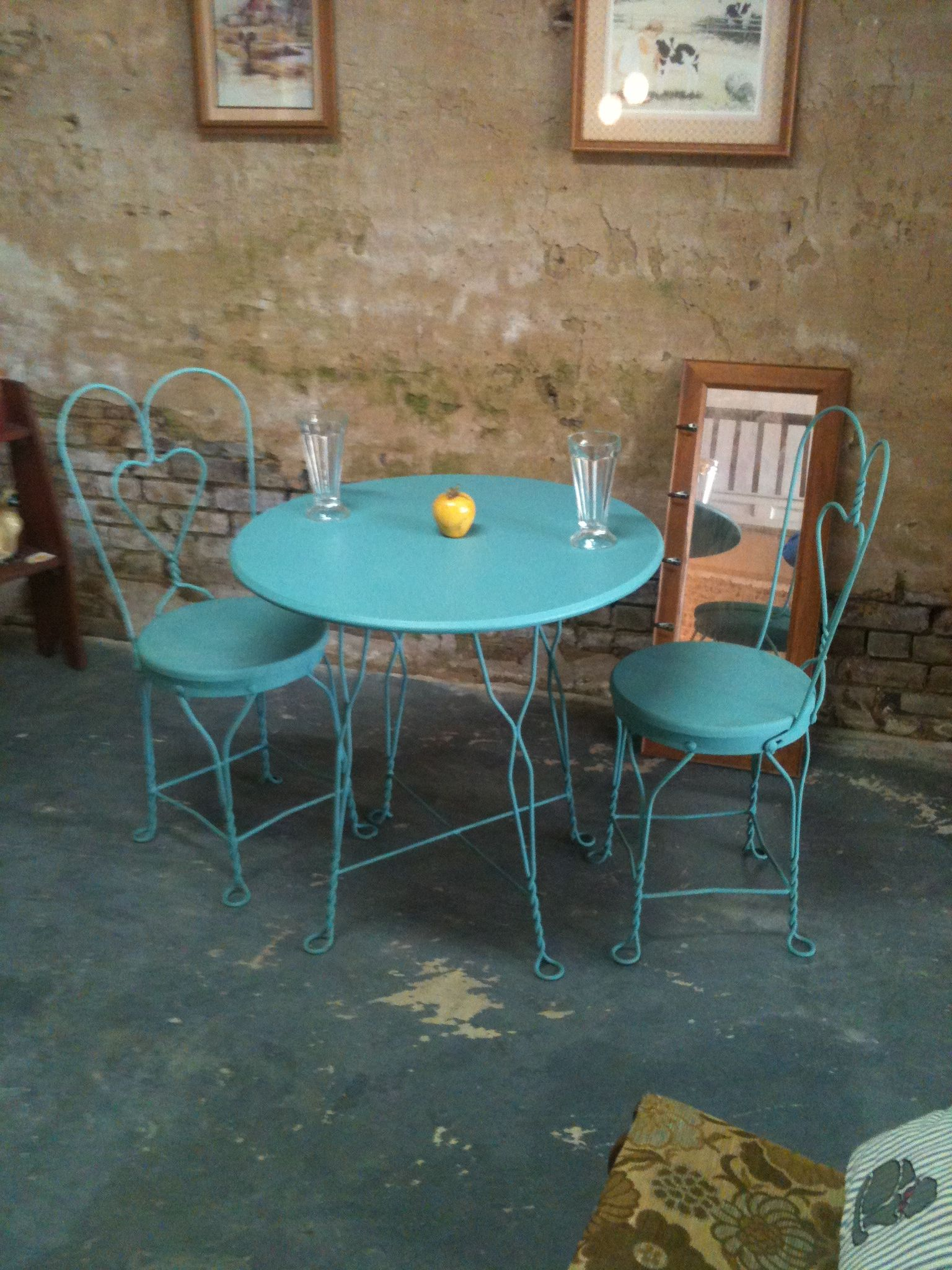 ice cream parlor table and chairs chair covers queens ny 140 booth 23 vintage