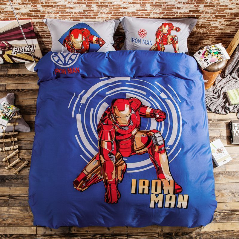 Iron Man Bedding Sets Twin Queen King Size Super Heroes Bedding Superhero Bedding Iron Man Mens Bedding Sets