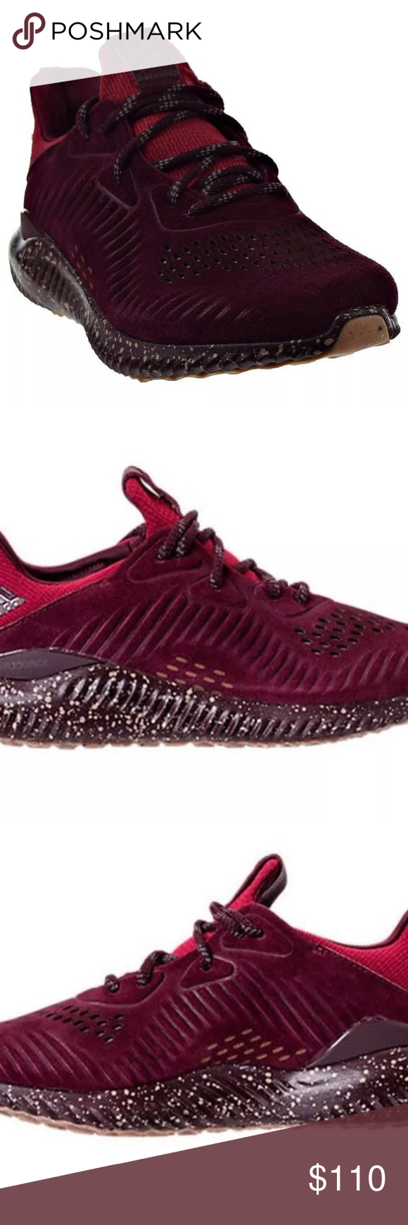 0aa1e5d9df633 New Adidas AlphaBounce Lea Leather Boost Shoes New Adidas AlphaBounce Lea  Men s Leather Boost Shoes Maroon CQ1189 Size  9 Brand New In Box Men s  ADIDAS® ...