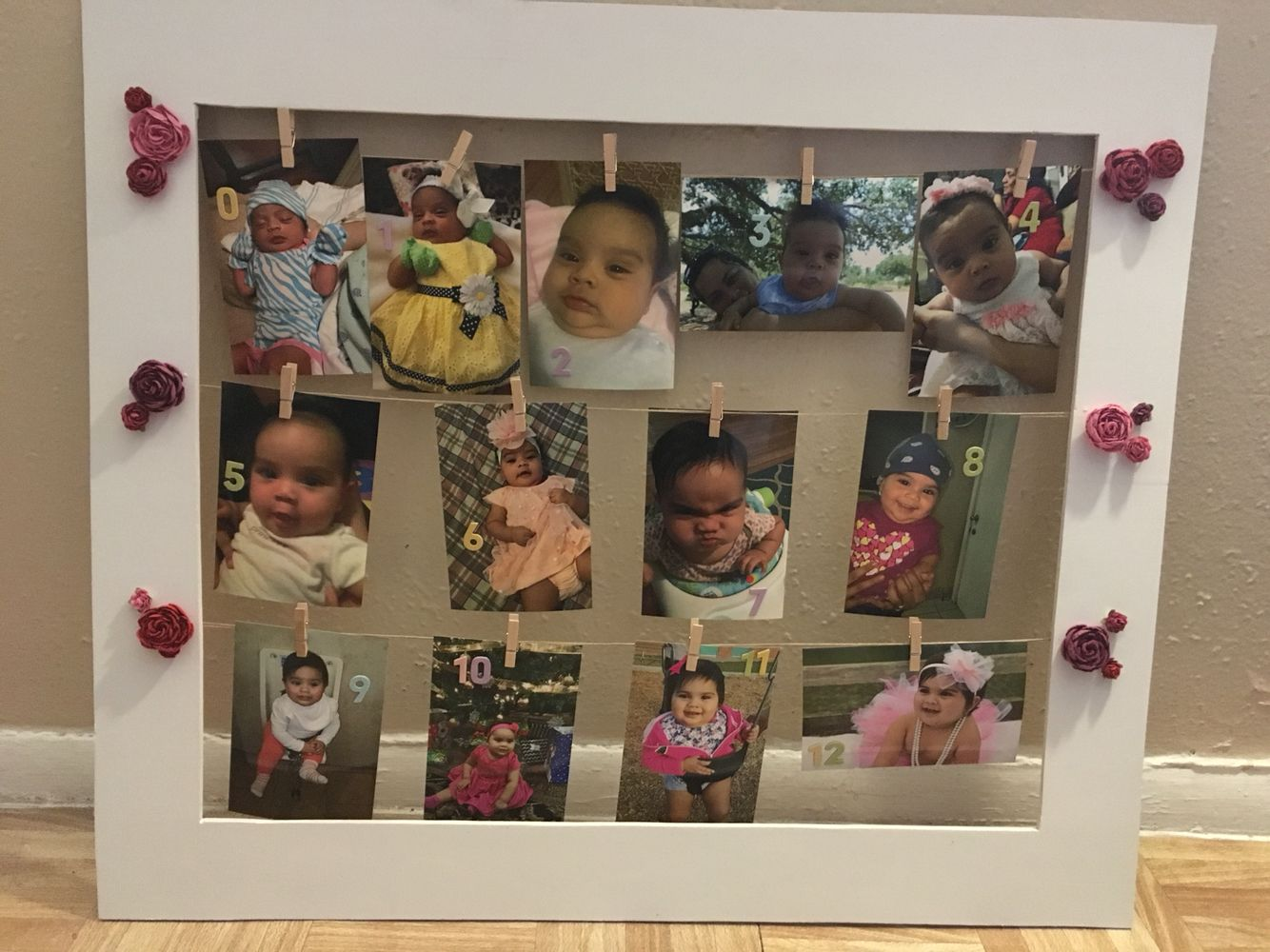 0 12 Months Baby Frame 12 Month Baby Frame Baby Frame Baby Month By Month