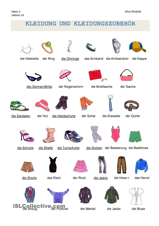 kleidung wortschatz arbeitsblatt kostenlose daf arbeitsbltter kleider deutsch lernen kleidung. Black Bedroom Furniture Sets. Home Design Ideas