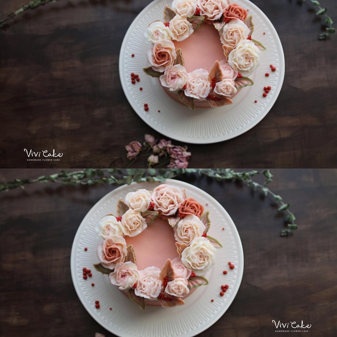 """좋아요 108개, 댓글 2개 - Instagram의 홍대 플라워케이크 클래스 Flowercake Class(@vivi_cake_)님: """"Buttercream flowercake 🌸"""""""