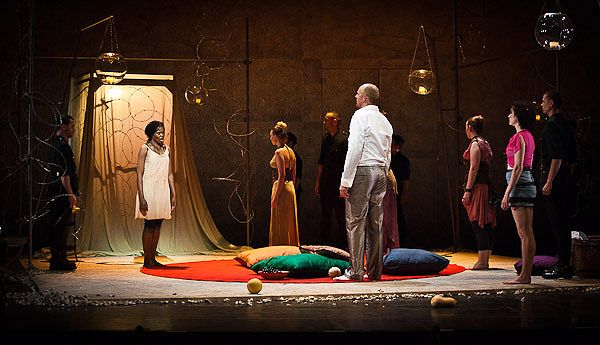 Zaide. Sadler's Wells. Scenic design by Anna Fleischle. Lighting by Natasha Chivers.