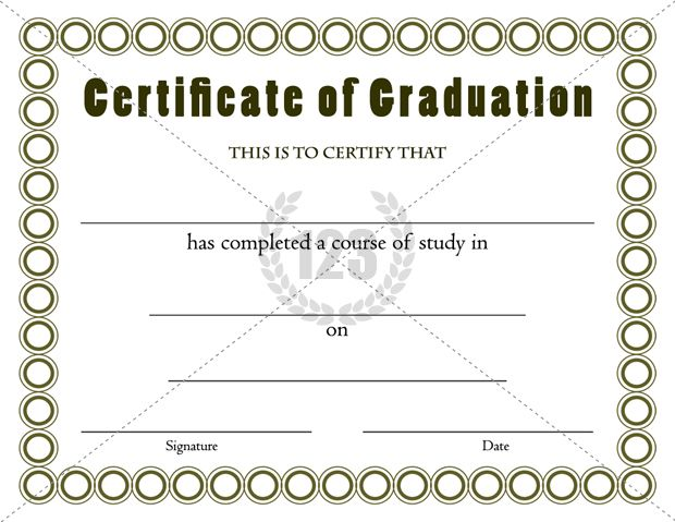 Best Graduation Certificates Template for Outgoing Students - attendance certificate template