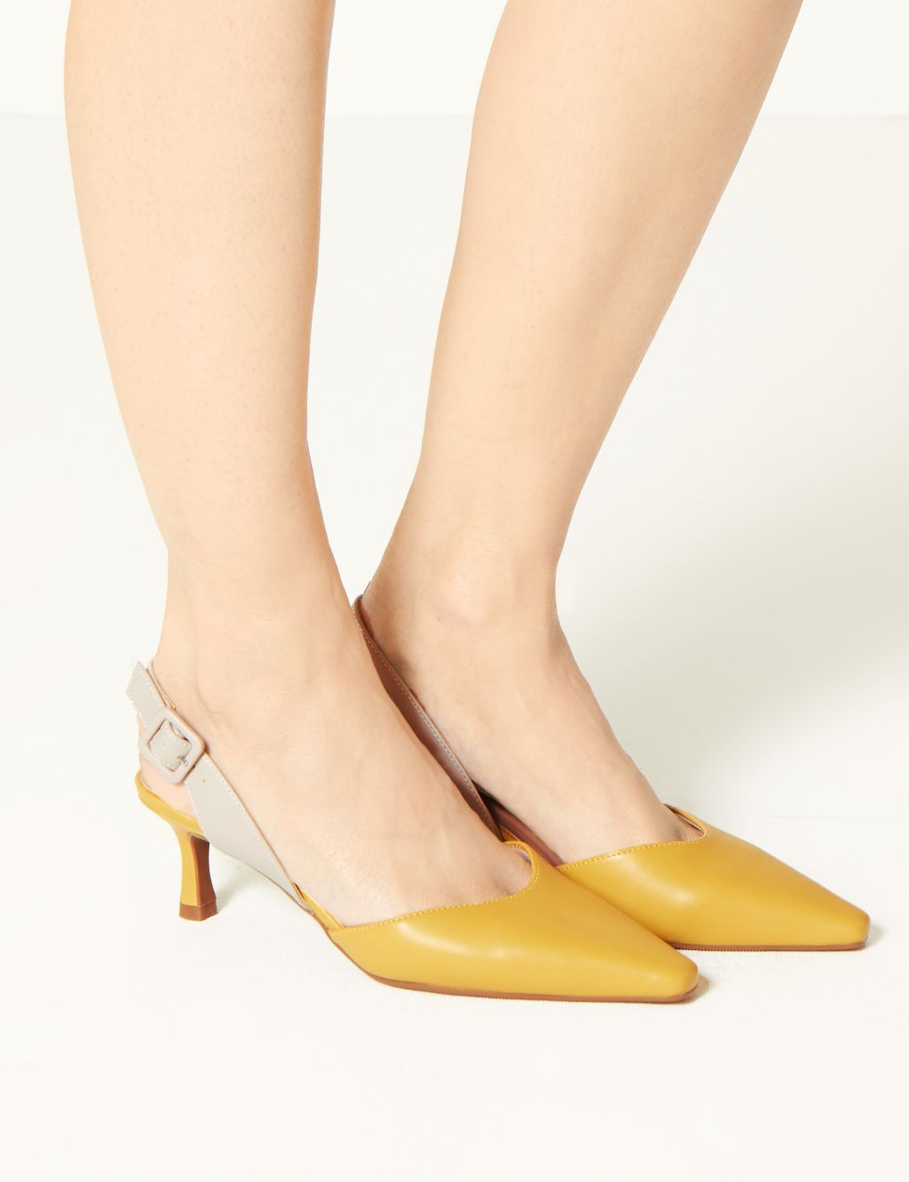 Kitten Heel Slingback Shoes M S Collection M S Kitten Heel Slingback Shoes Heels Slingback Shoes