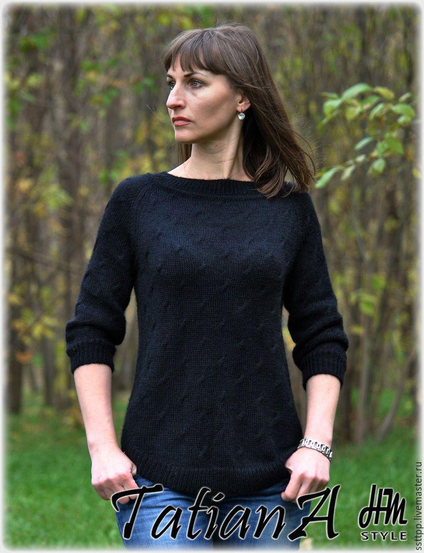 Пуловер с изящными косами и ажуром от дизайнера Alison Green из буклета Berroco 361