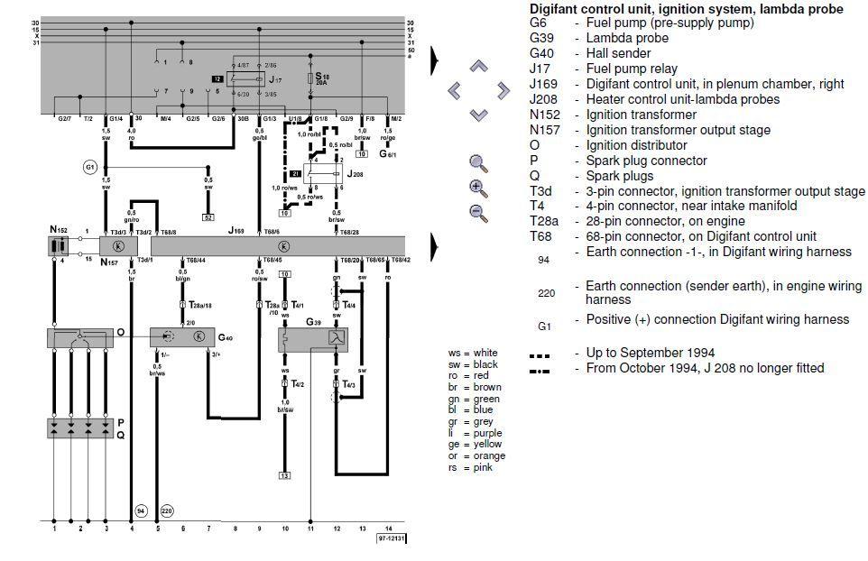 VW ABF Digifant 3.* Current Flow diagram. | IgPo | Pinterest ...