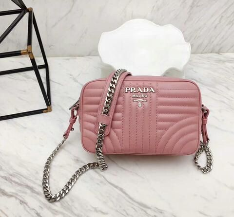 88f2311906ca8b #prada 2018#Discount Prada Diagramme Leather Crossbody Bag 1BH083 in PINK