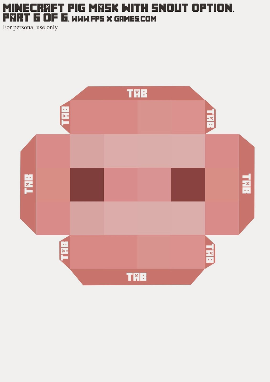 It's just an image of Adaptable Minecraft Masks Printable