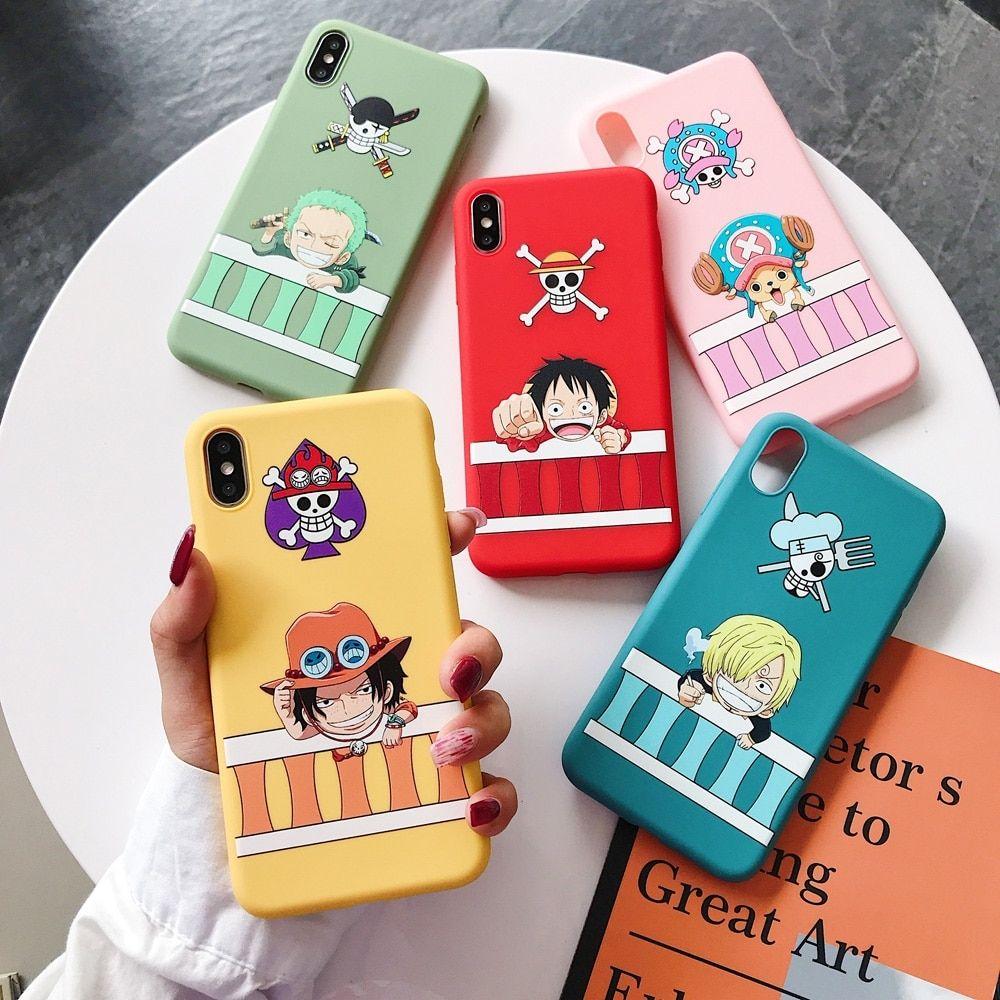 Cute comic one piece luffy phone case for iphone di 2020