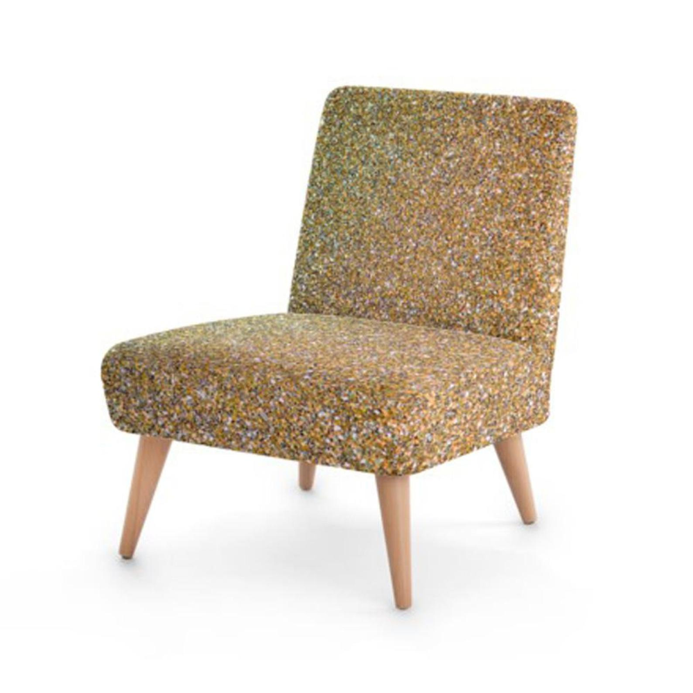 Gold Glitter Print Accent Occasional Chair Etsy In 2020