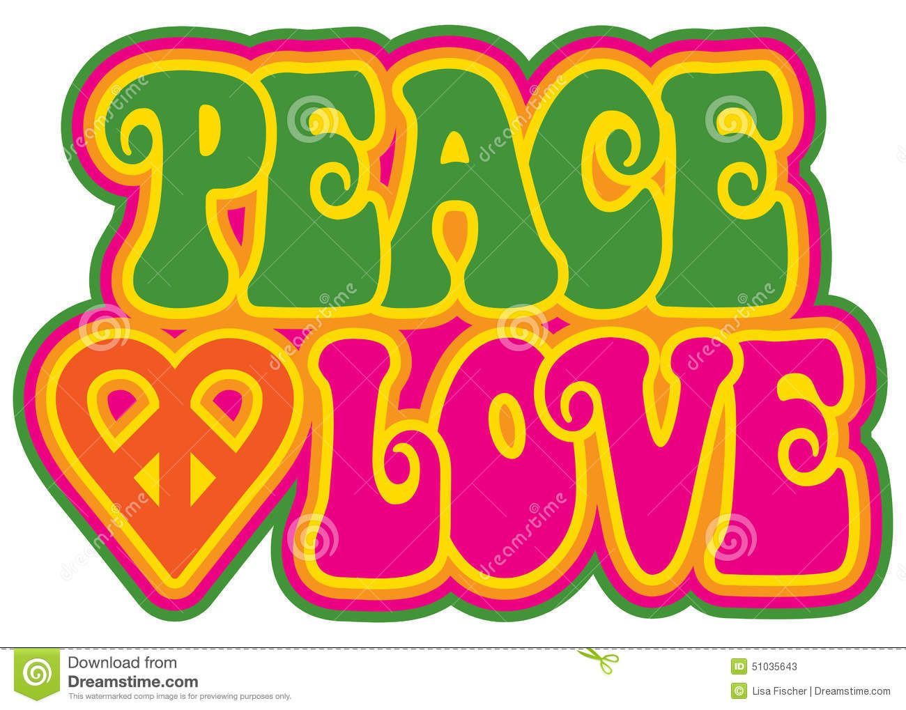 Peace And Love Stock Vector Image 51035643 Peace and