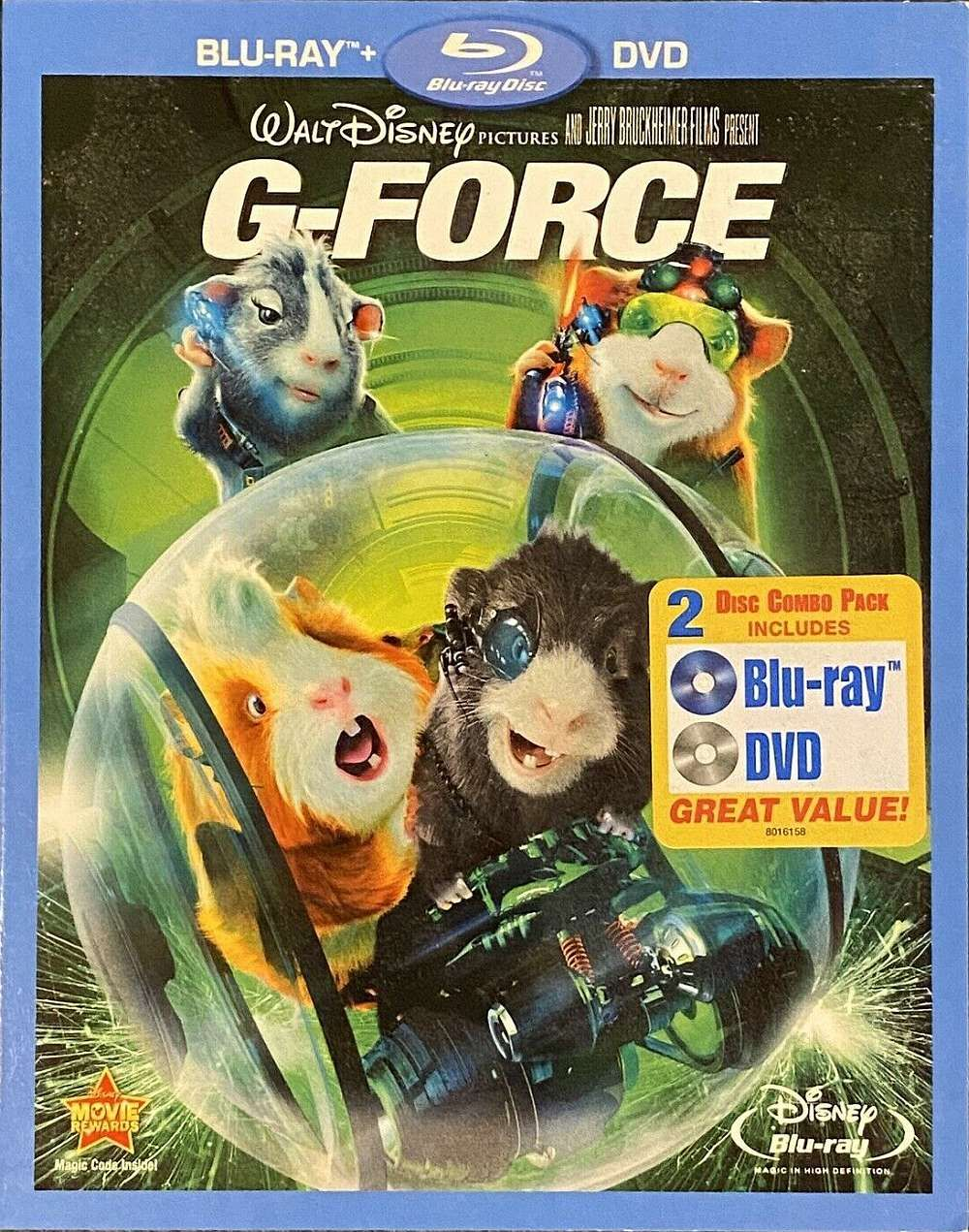 G Force G Force Disney Blu Ray Disney Rewards Walt Disney Pictures