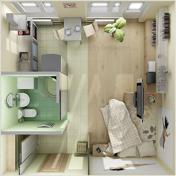 Small Apartment Design Floor Plan: 10. A Floor Plan Perfect For A Bachelor Apartment