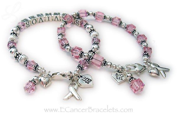 Pin On Breast Cancer Awareness Bracelets