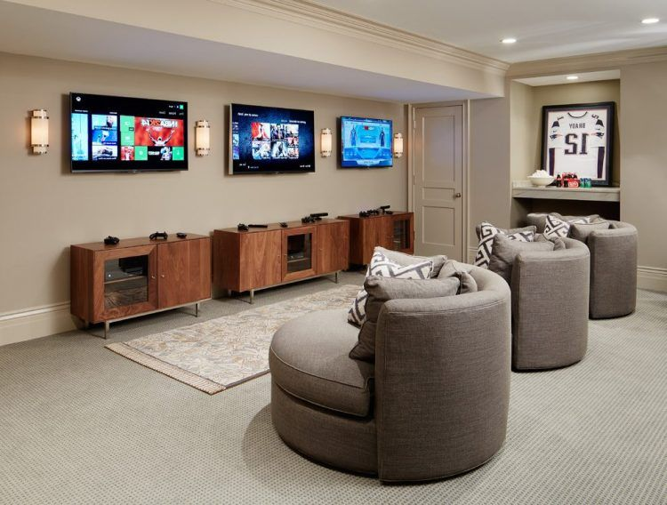 20 Of The Most Tech Savvy Media Room Ideas Game Room Design Game Room Basement Game Room Family