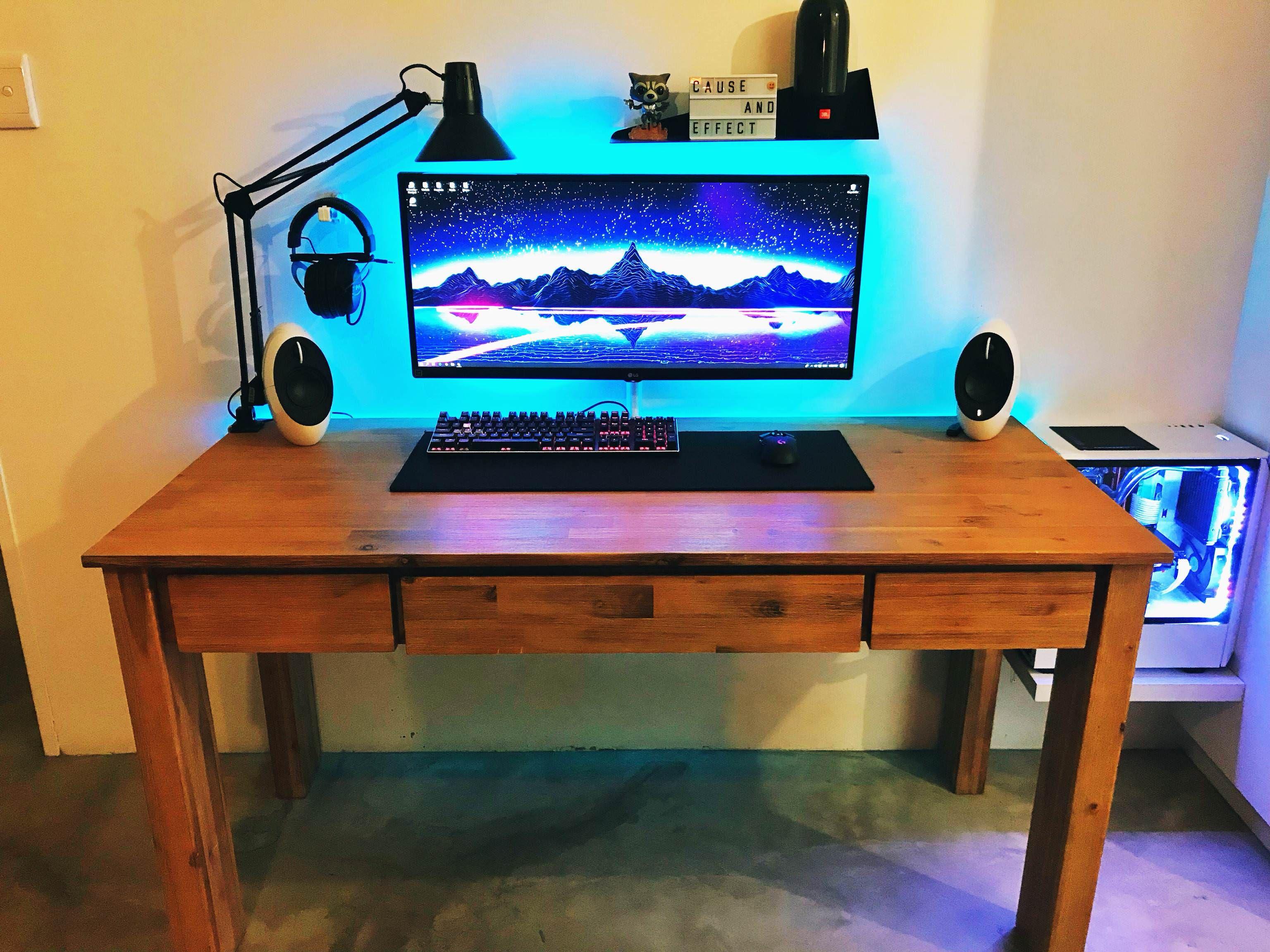 New To Reddit Want To Share My Setup Unique Desks Setup Office Setup