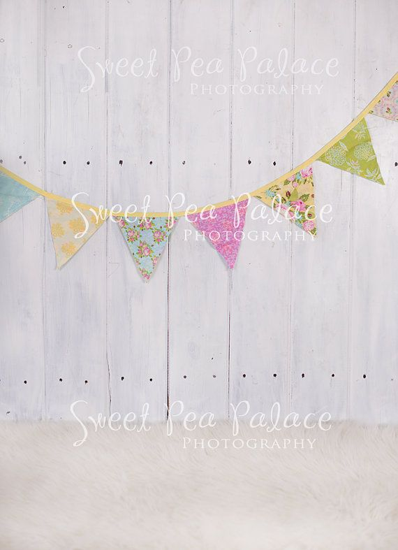 Instant Download Photography Prop DIGITAL BACKDROP for Photographers - Pastel Banner on White Wood Wall - Digital Background #backdropsforphotographs