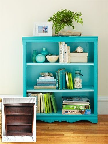 competitive price a99e3 4978e Turquoise bookshelf | New house | Diy furniture, Furniture ...