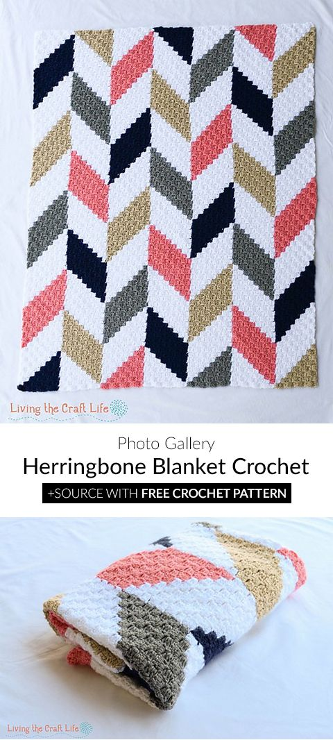 Herringbone C2c Blanket Crochet Haken Dekens Amp Kussens