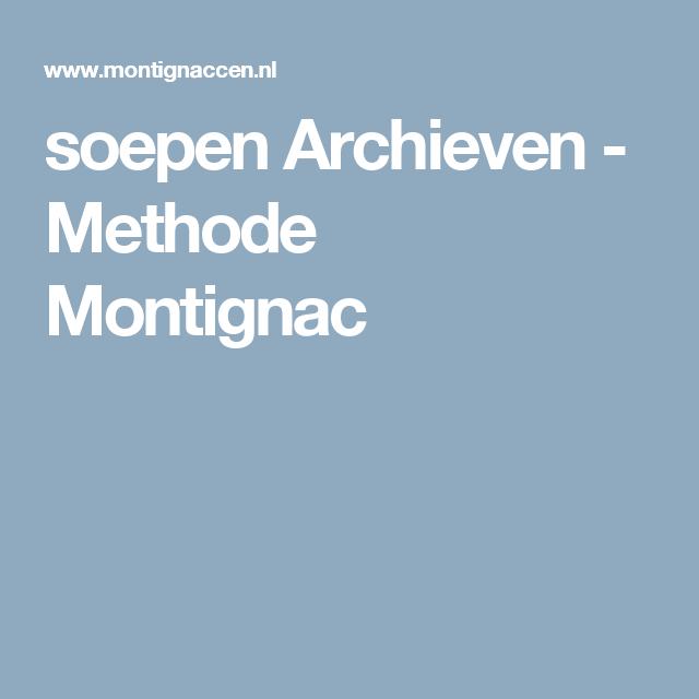 soepen Archieven - Methode Montignac