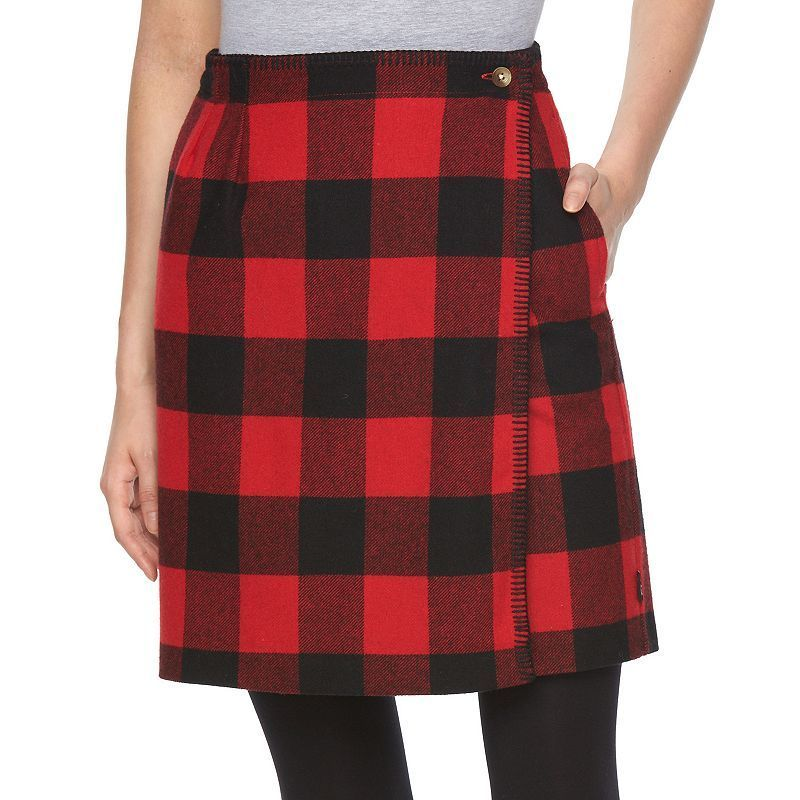 13b5eb08c Woolrich Plaid Wool Blend Wrap Skirt - Women's, Size: 10, Dark Red ...