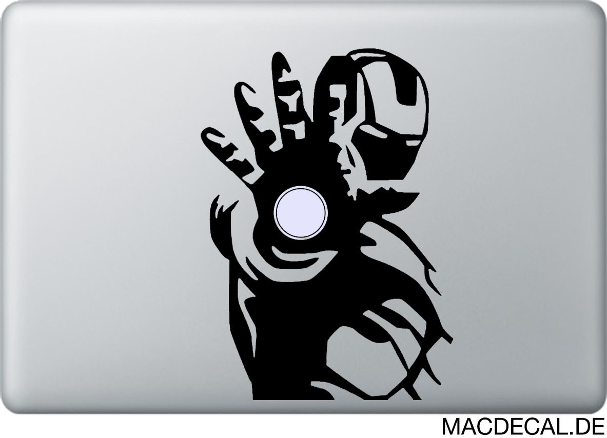 Macbook Sticker Aufkleber Iron Man Macbook Stickers