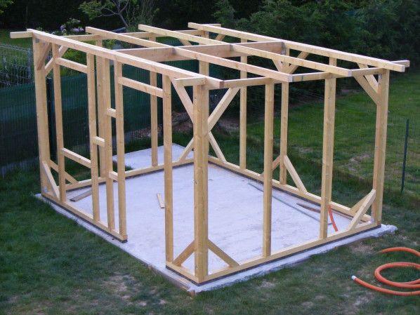 construction de mon abri de jardin   Abri de jardin, Plan abris de jardin et Construire abri de ...