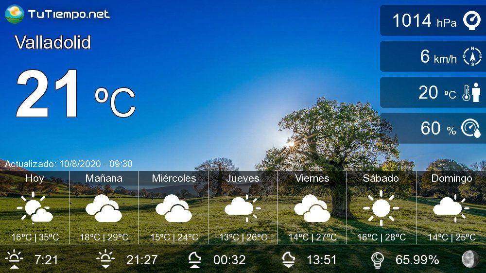 El Tiempo En Valladolid Pronóstico 15 Días Probabilidad De Lluvia Viajar A Granada Palma De Mallorca