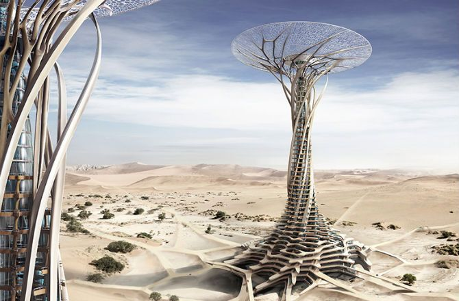 Solar Desert Tower 3D-Printed From Sand : Discovery News
