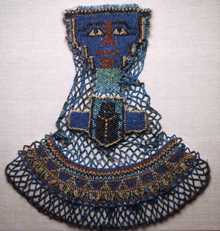 Egyptian    Beaded Mummy Decoration, Saite Period, Dynasty 26 (c. 664-525 B.C.)    Beads, fiber