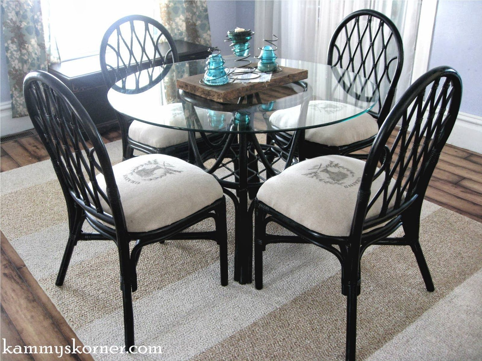 Rattan Dining Chairs Makeover Image Transfer With Freezer Paper Dining Chair Makeover Rattan Dining Chairs Chair Makeover