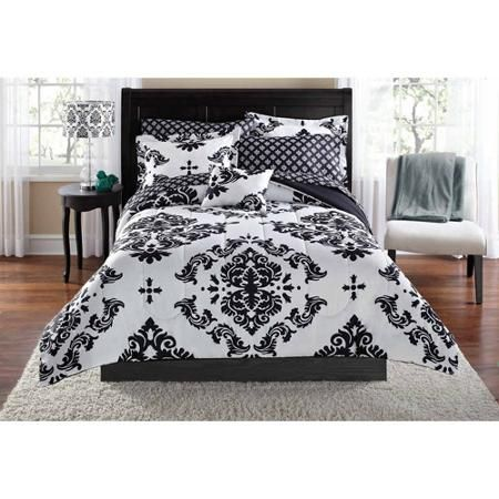 Mainstays Classic Noir Bed In A Bag Bedding Set | Walmart, Bags ...