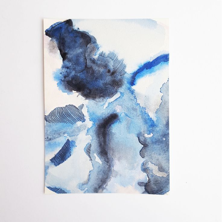 Flash Sale- Modern Abstract Painting- Abstract Blue and Pink Painting- Small Art- Abstract Painting Art- Minimal Art Print- Abstract Art (9.99 USD)