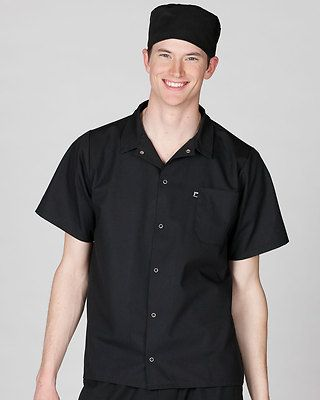 Ed Garments Adult Snap Front Utility Chest Pocket Soft Cook Shirt. 1302
