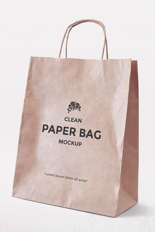 Download Simple Paper Bag Mockup Bag Mockup Paper Bag Design Paper Bag