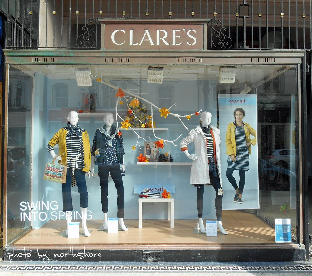 Clothing Window Display The new spring window at