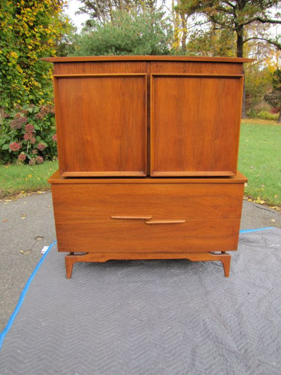 Fabulous Mid Century Modern Armoire Or Tall Boy Dresser Chest Of Drawers Wish It Had A Hanging Clo Modern Armoire Mid Century Modern Decor Midcentury Modern