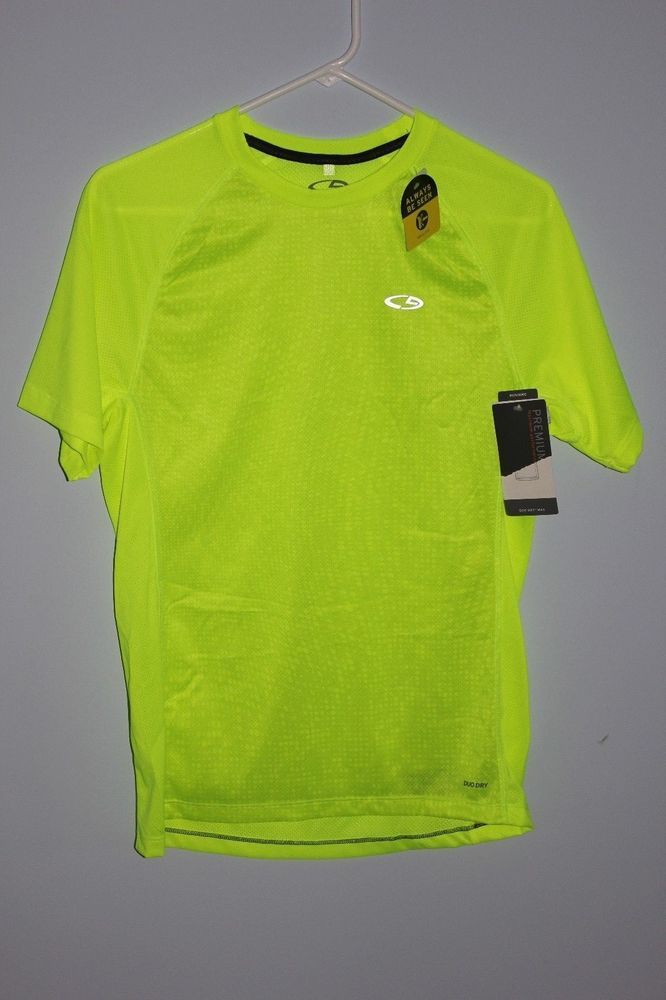 Women s or Men s Champion Duo Dry Shirt NWT New Running Top Yellow Small  Petite  Champion  ShirtsTops 367654430